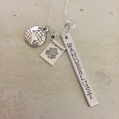 A personal favorite from my Etsy shop https://www.etsy.com/listing/270839824/wanderlust-necklace-hand-stamped-take-me