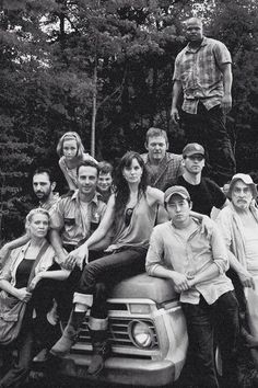 the walking dead. rip T-Dog, Sophia, Shane, Andrea, Dale, and that other guy I don't know. ~ The gang's all here... I miss Shane and Sophia and Dale