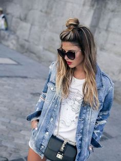Easy Top Knot Fashionable Hairstyles Ideas for Women