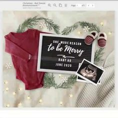 Holiday Pregnancy Announcement, Cute Baby Announcements, Baby Due Date, December Baby, January, Ultrasound Pictures, Baby Information, Edit My Photo, Holiday Festival