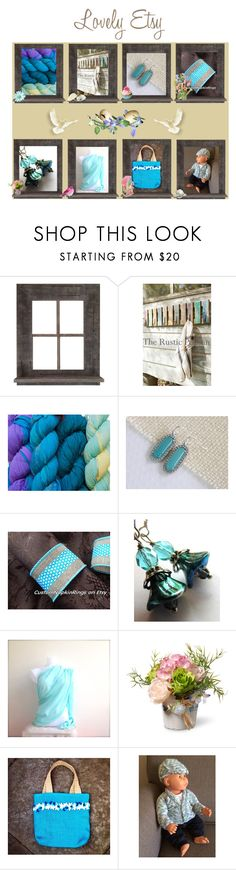 """""""Lovely Etsy"""" by cozeequilts ❤ liked on Polyvore featuring Scialle, National Tree Company and rustic"""