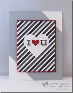 Using Project Life Cards…for CARDS! Red & Gray Love Card | Northwest Stamper