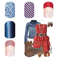 Jamberry nails to complete your country girl outfit! Jamberry nail wraps are non-toxic, applied with a little heat and pressure. Always buy three get one free! Click the image to see all of the styles.