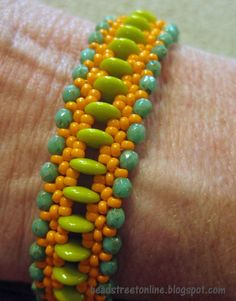 Bead Street Online two hole lentil beads - nice pattern---definitely change colors