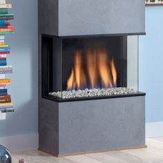 DRU Global 60 BF 3 Sided Glass Built in Balanced Flue Gas Fire