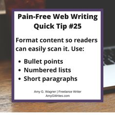 Don't sweat writing for the Internet. This writing tip will help you get the job done. Start Writing, Writing Tips, Your Message, Get The Job, Blog Entry, Business Tips, Writer, Messages, Make It Yourself