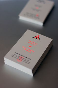 Personal branding & Business Cardsprinted in 2 colors risography / black & fluorescent orange