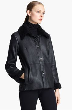 Pologeorgis Genuine Shearling Jacket available at #Nordstrom