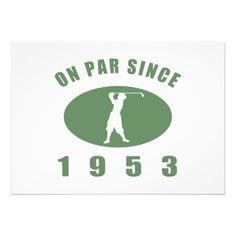 1953 Golfer's Birthday Gift Custom Announcement