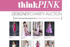 Our Think Pink designer charity auction is on in support of the National Breast Cancer Foundation! Visit http://stores.ebay.com.au/inDemand-Causes/Modern-Wedding.html to bid for the beautiful #pink gowns, designed and donated by David Jones' designers - Steven Khalil, Karen Willis Homes, Carla Zampatti, Akira Isogawa, Johanna Johnson, Alex Perry, Easton Pearson, Lisa Gowing and Kirrily Johnston. The auction will end on Friday 2 November 2012 so get bidding!