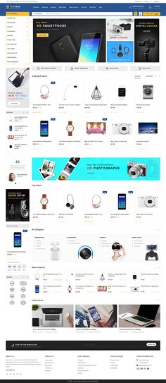 TechShop - The New Shopping Style Ecommerce Website Design, Website Design Layout, Web Design, Computer Theme, Ecommerce Template, Branding Your Business, Photoshop, Website Themes, Website Template