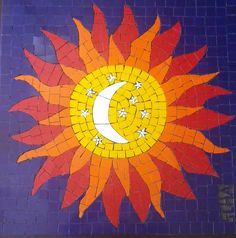 Resultado de imagen para mandala hecho en mosaico