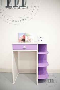 A sweet girls desk for a sweet little girl. — mango reclaimed. van Gogh painted.