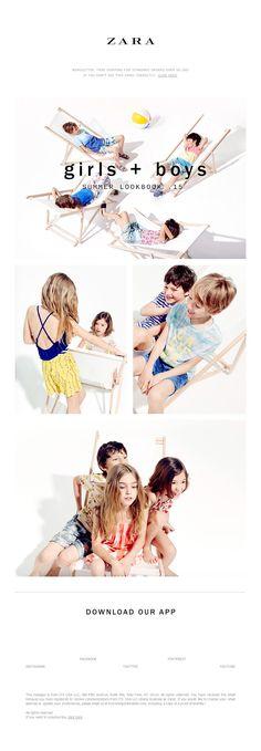 ZARA - Lookbook Kids: It's Summer! Boys + Girls
