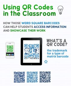 How simple and USEFUL QR codes can be in the classroom- this would be cool to use on programs for music concerts- more info on pieces of music, etc.!