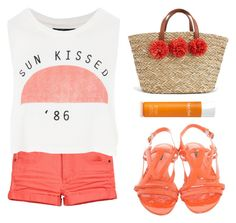 """""""Summer sunset"""" by stevie-pumpkin ❤ liked on Polyvore featuring H&M, Topshop, Louis Vuitton and Natura Bissé"""
