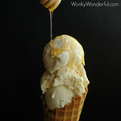 Honey Ricotta Ice Cream is unbelievably rich and creamy. The wonderful honey flavor shines in this pure and simple, three ingredient homemade ice cream. Since I began making my own ricotta (How To Make Ricotta), my newest favorite food discovery is Ricotta Ice Cream! I first made Cherry Ricotta Ice Cream,that was Ahhhmazing on so …