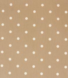 Neutral spotty PVC!  http://www.justfabrics.co.uk/curtain-fabric-upholstery/taupe-pvc-dotty-fabric/