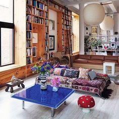 Inez van Lamsweerde and Vinoodh Matadin s Manhatten loft space. via ettoresottsass- ny, living