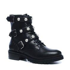 876738d4af5d5 Bottines motardes avec boucles et perles - noir. Millie Mille · Shoes and  boots · Angkorly - Chaussure Mode Botte Motard Cavalier ...