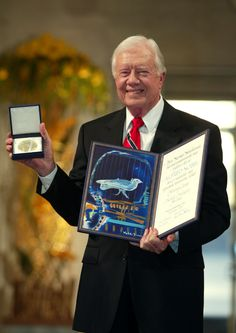 Jimmy Carter (born October an American politician who served as the US President from 1977 to In he was awarded the Nobel Peace Prize for his work with the Carter Center. Carter was a Democrat who was raised in rural Georgia.