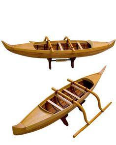 Outrigger Canoe Model, Hawaiian Outrigger Canoe Model, Ancient ...