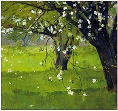 Tree Blossoms, by Theodore Robinson (1852-1896)