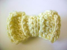 Crochet Pattern: Ridged Hair Bow