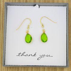 Genuine Green Peridot Semiprecious Gemstone Drop by ThePinkLamShop