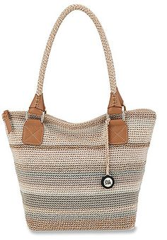 The Sak Cambria Crochet Large Tote Sales Off -Womens The Sak Cambria Crochet Large Tote Sales Off - The Sak Cambria Large Crochet Tote Rosantica Crochet Wallet, Crochet Tote, Crochet Handbags, Crochet Purses, Hand Crochet, Crochet Accessories, Handbag Accessories, Sweet Bags, Straw Tote