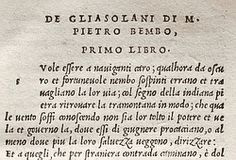 (Humanist Type) First Italic: Engraved by Francesco Griffo for Aldus Manutius in 1499, this typeface was based on cancellaresca, the cursive handwriting favoured by Italian humanists.