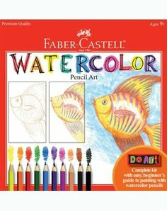 Faber-Castell Do Art Watercolor Pencils by Faber Castell. $12.59. Includes 24 page watercolor paper pad and 20 page instruction booklet. Kit includes 10 watercolor pencils with clear zipper pouch. Includes pencil sharpener and paintbrush. From the Manufacturer                Learn to paint with Watercolor EcoPencils using the best children's art materials by Faber-Castell. Kit includes 10 watercolor pencils with clear zipper pouch, 24 page watercolor paper pad,...