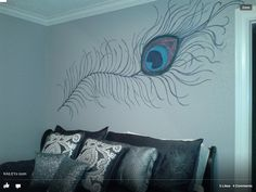 Peacock bedroom - use over bed?