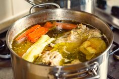 How to Make Savory Rotisserie Chicken Broth From Your Leftovers! #30secondmom