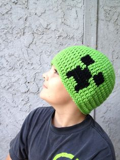 Minecraft Creeper Beanie all sizes