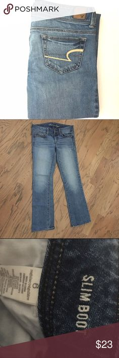 American Eagle Jeans American Eagle jeans. Slim boot, size 6. Great condition! American Eagle Outfitters Jeans Boot Cut