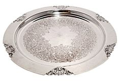 Silverplated Victorian Tray