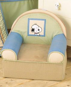 Peek A Boo Snoopy Slip Cover Chair Snoopy Nursery, Baby Snoopy, Toddler Stuff, Toddler Bed, Slipcovers For Chairs, Baby Bedding, Room Accessories, Baby Bumps, Kids Furniture