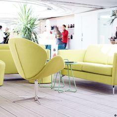 BoConcept beauty at Festival de Cannes 2016 - that bright yellow really lightens up the room!