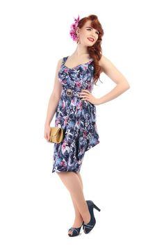 Tallulah Maui Hibiscus Sarong Dress 0
