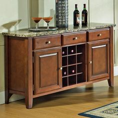 Montibello Dining Server with Wine Rack by Steve Silver   #HudsonsFurniture