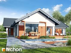 Dom w grandarosach Dream House Plans, Home Fashion, Cabin, House Design, How To Plan, Mansions, Architecture, House Styles, Outdoor Decor