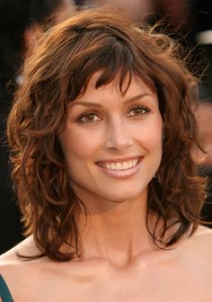 Curly Hairstyles For Medium Length Hair With Bangs