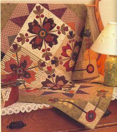 Primitive Folk Art  Quilt - Booklet/Pattern:  COUNTRY WHIG ROSE  - Kim Diehl