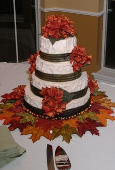 My Wedding Cake....made by me :) October 2007