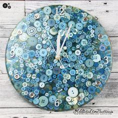 Tick Tock - Frozen Blue - Resin clock - silent motion - Buttons