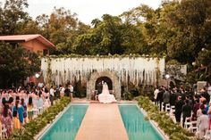 Drop dead gorgeous wedding at Hacienda Isabella in the Phillipines. Photo by Mango Red Photography via Bridal Musings.