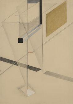 El Lissitzky, l.n.31, ca. 1922-1924, graphite, crayon, waterclor, gouache