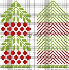 Knitting Charts, Loom Knitting, Knitting Stitches, Knitting Socks, Knitting Patterns, Crochet Mittens Free Pattern, Knit Mittens, Knitted Gloves, Motif Fair Isle