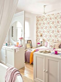 Cute little shoes add styling fun to bright boho home's decor - master suite 1